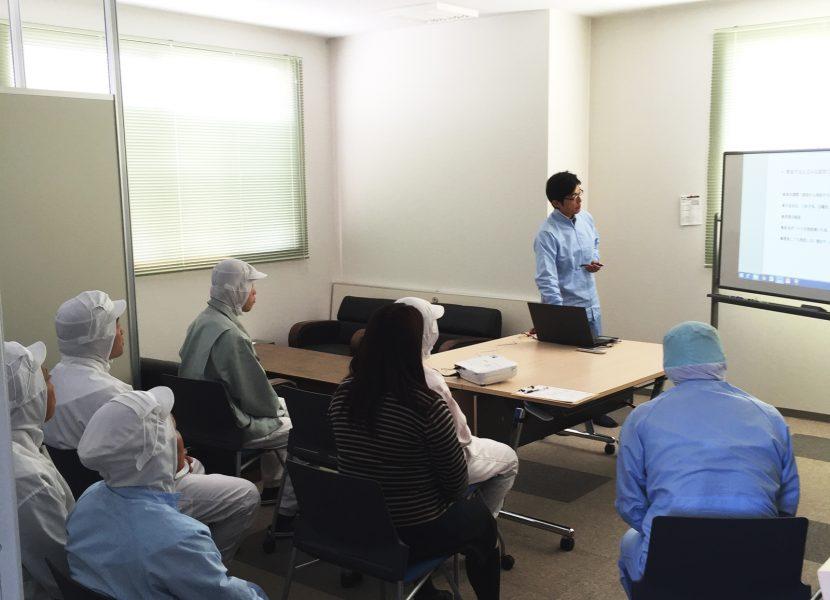 品質管理などの勉強会は定期的に開催し、レベルアップを図っています